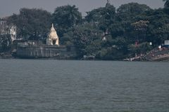 Fartygritt på floden Ganges royaltyfri foto