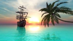 fartygsegling Royaltyfri Bild