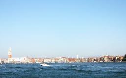 Fartygsegling i golfen av Venedig 11 Arkivbild