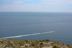 Fartygsikt över havet av Spanien royaltyfri fotografi
