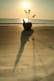 fartygsilhouette Arkivfoto
