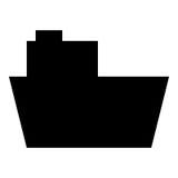 Fartygskårasymbol Royaltyfria Bilder