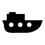 Fartygskårasymbol Royaltyfria Foton