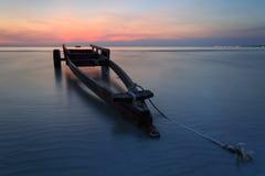 Fartygsläpet på Kon Ao Beach, Rayong, Thailand Arkivbild