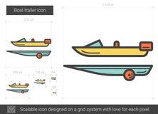 Fartygsläplinje symbol stock illustrationer