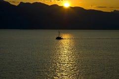 fartygsolljus Royaltyfria Bilder