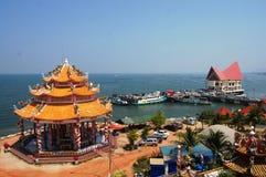 Fartygstation av Ko Loi på Sriracha Chonburi Thailand Arkivfoto
