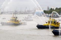 fartygstridighetbrand Arkivbild