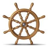 fartygstyrningshjul stock illustrationer