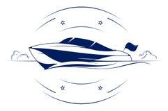 fartygsymbolshastighet vektor illustrationer