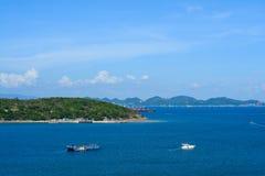 Fartygtransport på Koh Si Chang Royaltyfri Bild