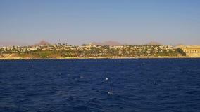 Fartygtur på nöjefartyget i Röda havet med sikter av den kustSinai halvön, Egypten lager videofilmer