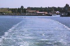 Fartygtur på Nordsjö på klar varm sommardag Euro-tur utomhus- arkivfoton