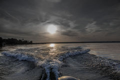 Fartygvågor Fotografering för Bildbyråer