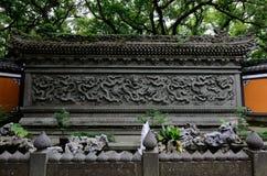 Faru寺庙九龙墙壁 免版税库存照片