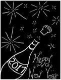 Farväl 2016 lyckliga nya år 2017! royaltyfri illustrationer