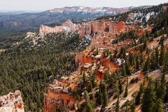 Farview Point in Bryce Canyon. National Park, Utah, USA Royalty Free Stock Images