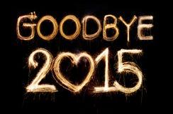 Farväl 2015 Arkivfoton