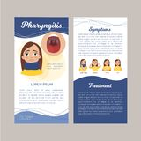 Faryngietinfographics stock illustrationer