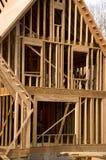 fas för konstruktionsinramningshus Arkivbild