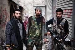 FAS kämpar, Aleppo, Syrien. Royaltyfri Fotografi