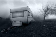 Fasabild av den spökade campareskåpbilen Fotografering för Bildbyråer