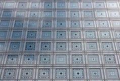 Fasad av arabvärldinstitutet (Institut du Monde Arabe) i Paris Royaltyfria Foton