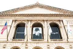 Fasad av Art Institute av Chicago, USA arkivbild