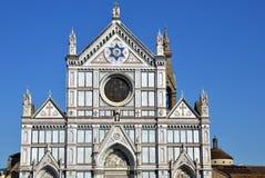 Fasad av basilikan av Santa Croce royaltyfria foton