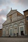 Fasad av basilikaSan Miniato al Monte Florence italy Royaltyfria Foton