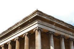 Fasad av British Museum i London Arkivfoto