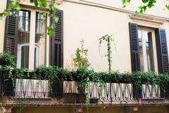 Fasad av byggnad i den Verona staden Royaltyfria Bilder