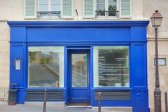 Fasad av byggnad i Paris arkivfoto