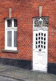 Fasad av byggnad på Aachen, Tyskland Fotografering för Bildbyråer