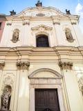 Fasad av delloen Spasimo för Chiesa dellamadonna royaltyfri foto