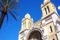 Fasad av den berömda kyrkan i tunis Royaltyfri Fotografi
