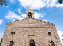Fasad av den grekiska ortodoxa basilikan av St George Arkivbilder