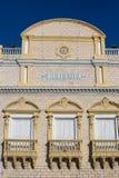 Fasad av den Heredia teatern i Cartagena Arkivbilder