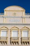 Fasad av den Heredia teatern i Cartagena Arkivbild