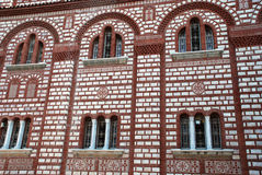 Fasad av den kristna kyrkan i Grekland Royaltyfri Fotografi