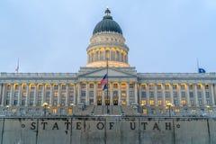 Fasad av den majestätiska Utah huvudstadbyggnaden royaltyfria foton