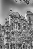 Fasad av den modernistiska mästerverkcasaen Batllo, Barcelona, Cata Royaltyfri Fotografi