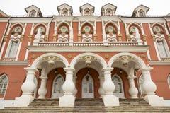 Fasad av den Petroff slotten, Moskva, Ryssland Arkivfoto