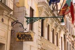 Fasad av den Westin europaen Regina Hotel i Venedig, Italien royaltyfri bild