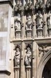 Fasad av den Westminster abbotskloster i London Arkivbild