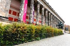 Fasad av det Altes museet (gammalt museum) i Berlin Royaltyfri Foto