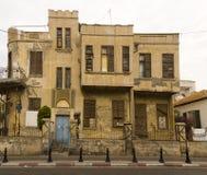 Fasad av det gamla huset Israel Royaltyfri Foto