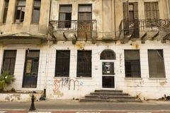 Fasad av det gamla huset Israel Royaltyfri Fotografi