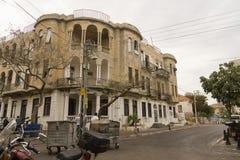 Fasad av det gamla huset Israel Royaltyfri Bild