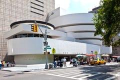 Fasad av det Guggenheim museet Royaltyfria Bilder